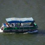 Tele: Verschiedene Schiffe auf dem Douro, das ist die Mosel XXL
