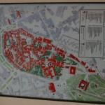 Karte des historischen Altstadtkerns Guimaraes