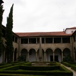 Garten in einem alten Kloster in  Guimaraes, heute Stadtverwaltung