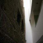 Stadtmauer wurde in ein neues Gebäude integriert